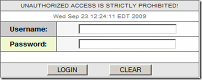 Figure 2: Megaproxy login