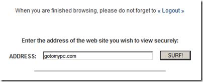 Figure 3: Enter URL