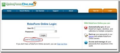 Figure 8: Online Signup and Login